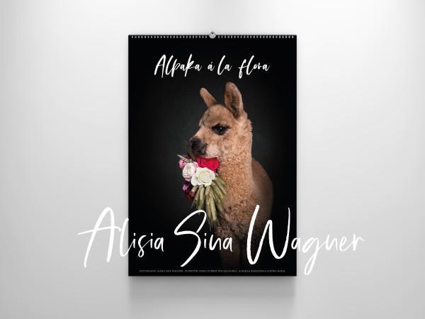 Alpaka à la flora - Großformat Kalender